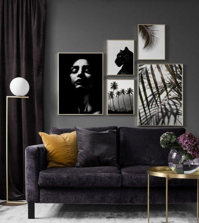 decoración con marcos de fotos