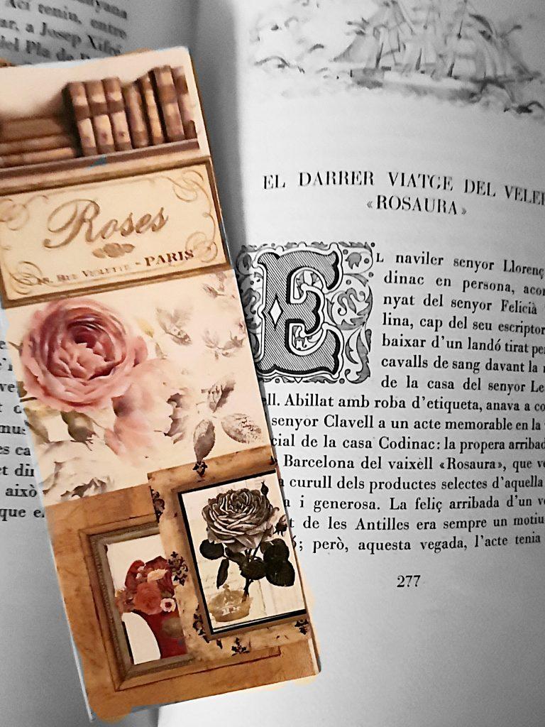Diada de sant jordi toart. punt de llibre  roses i llibres