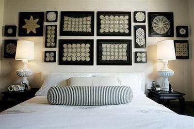 Ideas para decorar con ganchillos en dormitorio