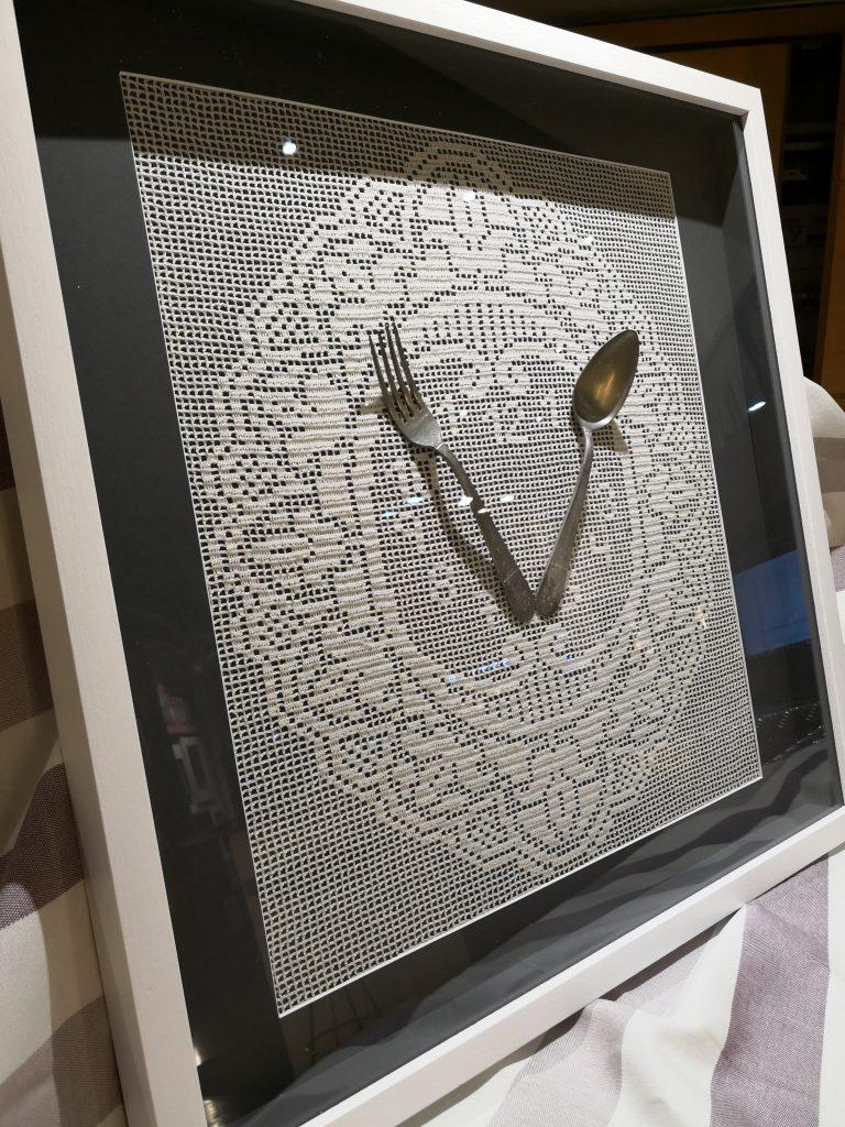 Ideas para decorar con ganchillo enmarcado en cuadro marco con profundiad