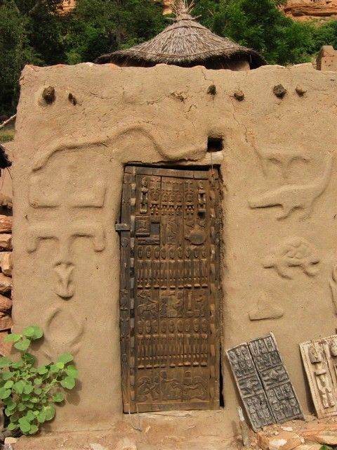 Puertas Dogón de granero. Mali