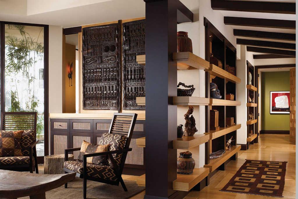 decoración salon con puertas