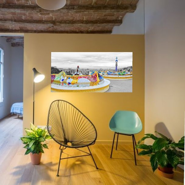 ideas para decorar con fotos de barcelona