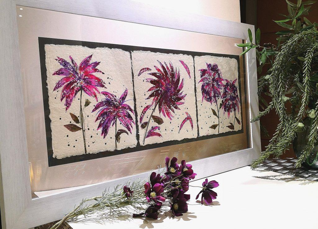 triptico lilas 56x100