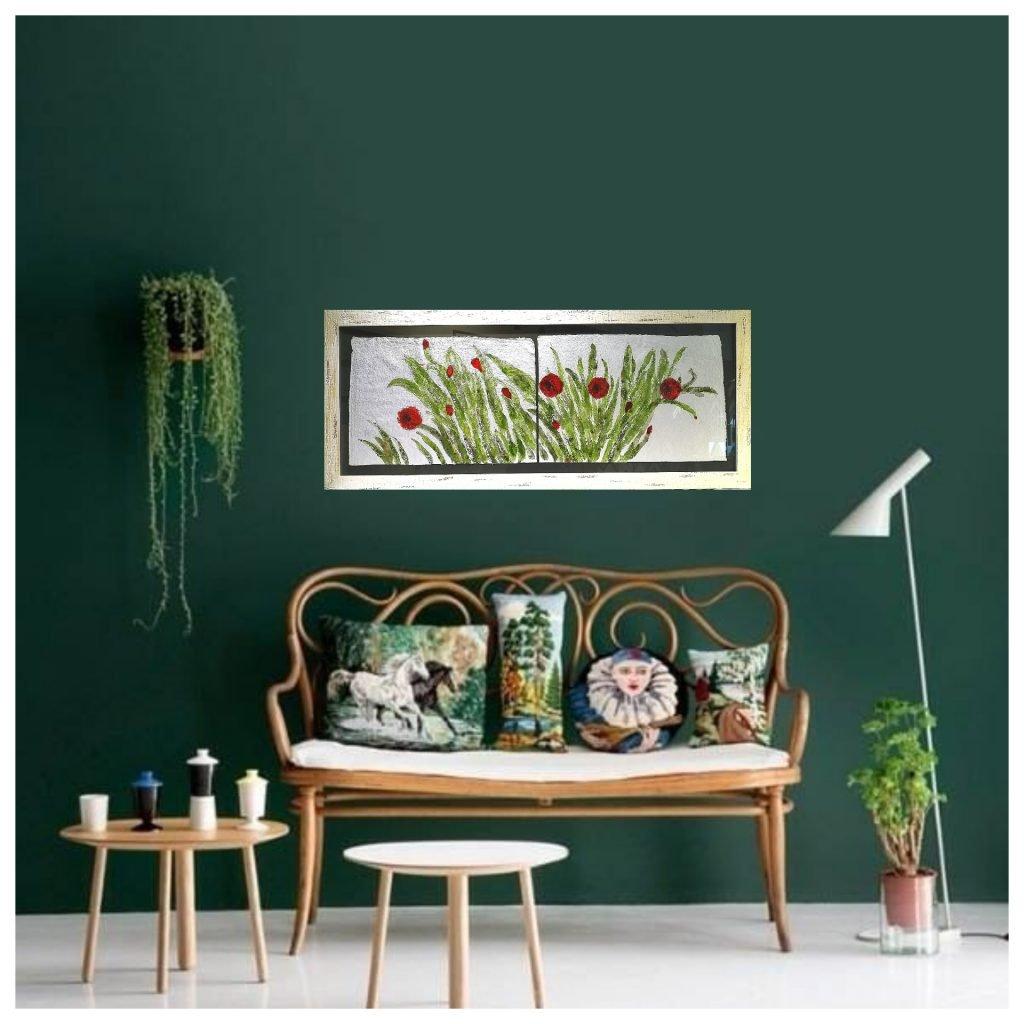 decora con marcos modernos de flores