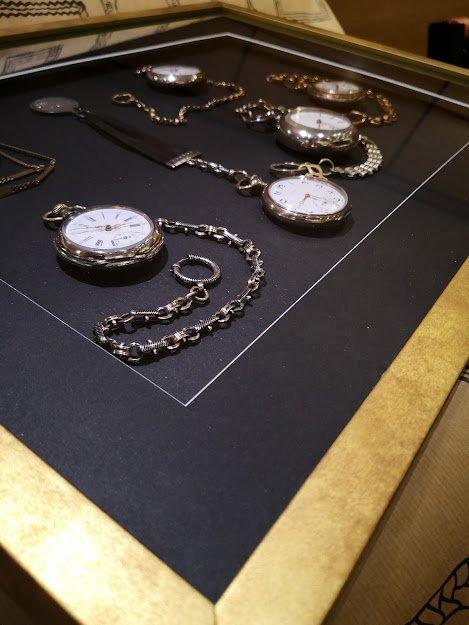 marco con profundidad para relojes de bolsillo